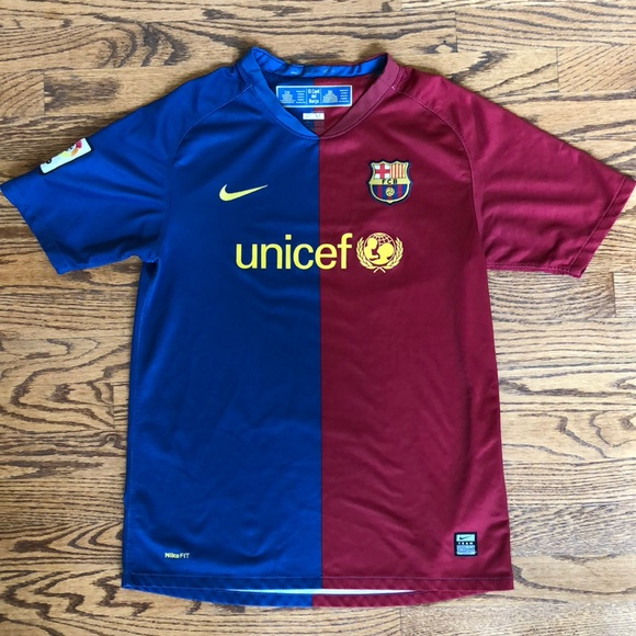 a1ec22b6bbb AUTHENTIC NIKE FC Barcelona Soccer Jersey 08/09 XL.  M_5b5b62b6cdc7f75ad00e2ca4